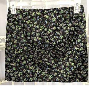 Balenciaga Paris Black Small Print Mini Skirt